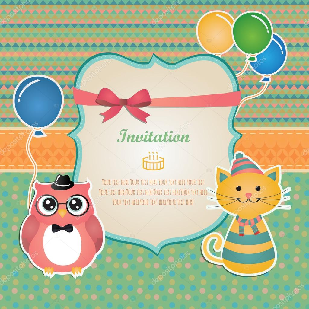 Birthday party invitation card design — Stock Vector ...