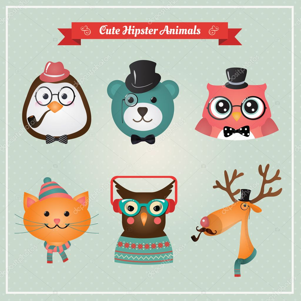 6 959 Hipster Animals Vector Images Free Royalty Free Hipster Animals Vectors Depositphotos