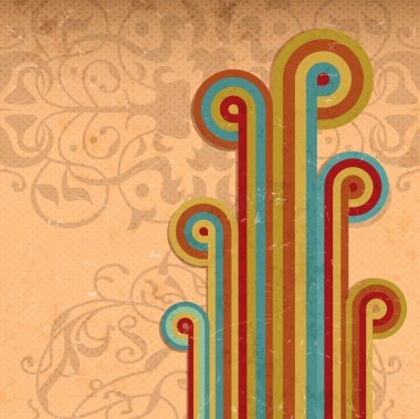 Abstract Vintage Rainbow Background