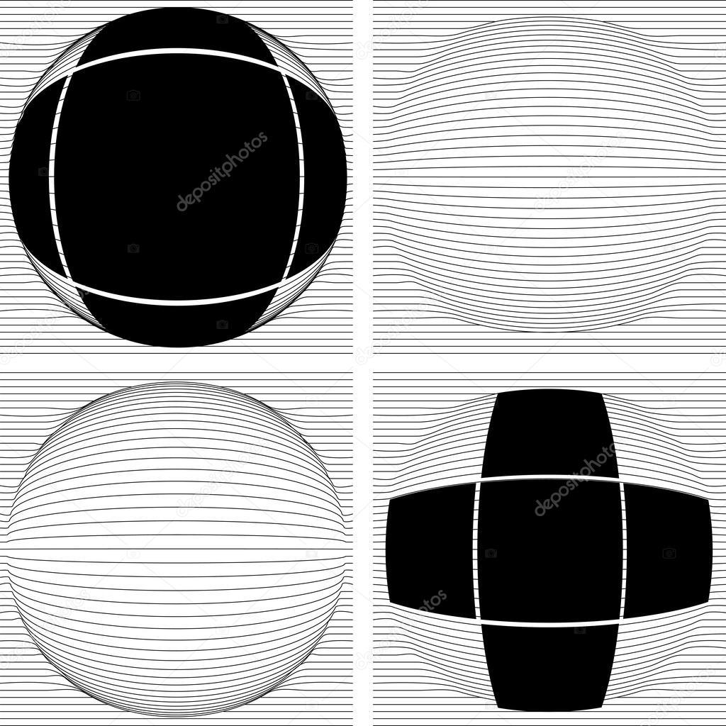 múltiples línea convexa a esfera con Cruz marco — Archivo Imágenes ...