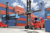Photo Forklift working in container yard