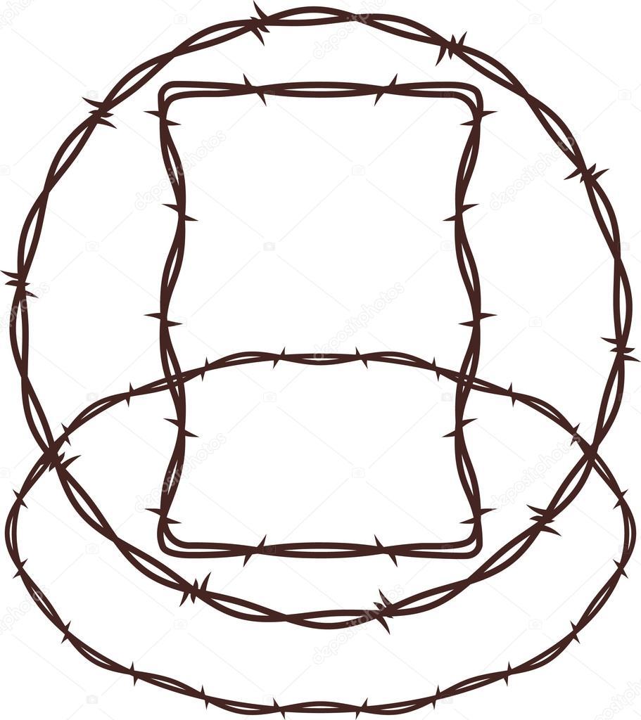 Barbed Wire — Stock Vector © bigredlink #32896133