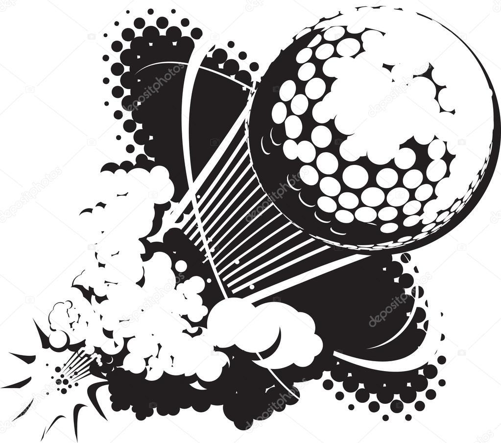sonic boom golf ball stock vector bigredlink 32897543 rh depositphotos com Golf Tee Vector Golf Balls Clip Art Vector