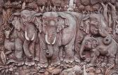 Sloní vyfukování umění