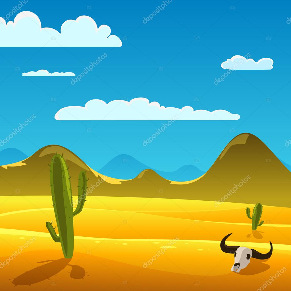Desert Cartoon Landscape