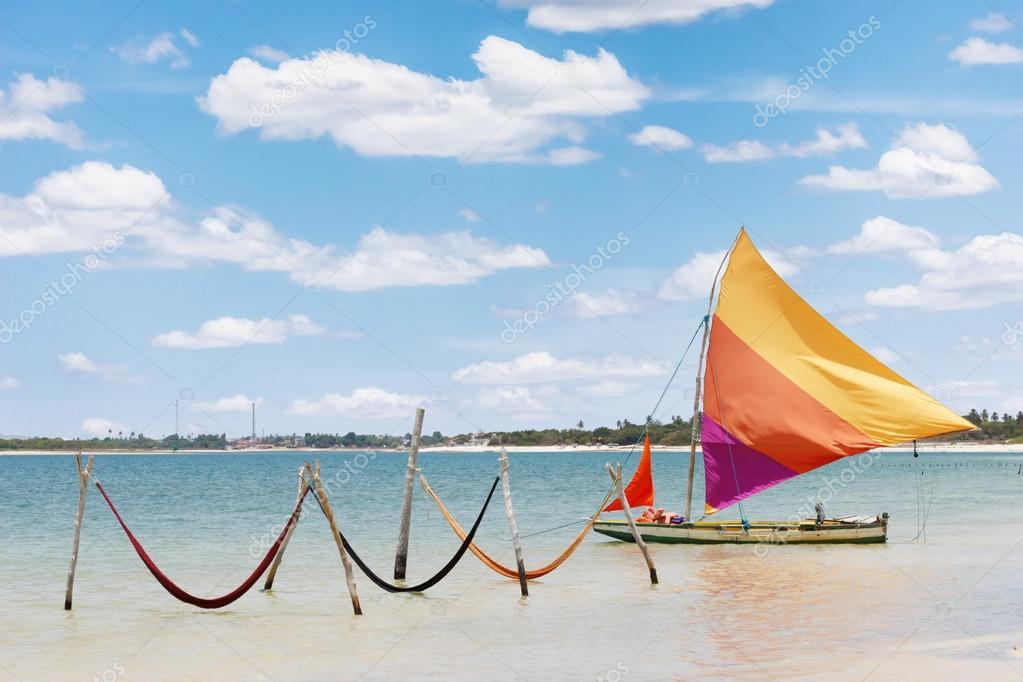 Sail boat and hammocks