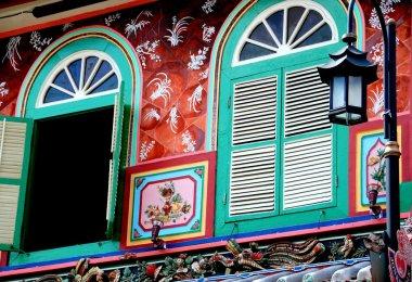 Singapore: Blue Shuttered Shop House Windows