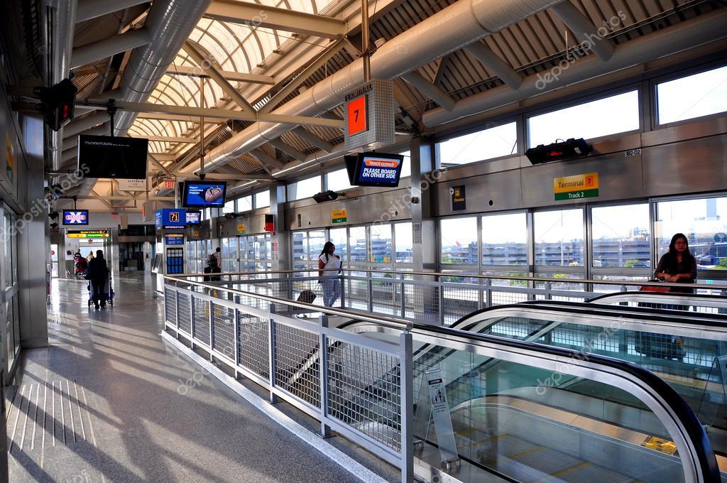 Aeroporto New York Jfk : New york morsetto aria stazione ferroviaria all