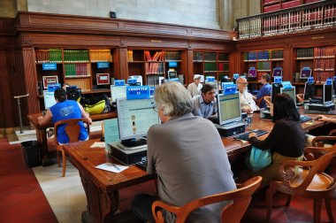 NYC: People Using Computers at the NY Public Library