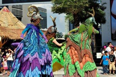 Bangkok, Thailand: Antelope Stilt-Walking Performers at Children's Day Festivities