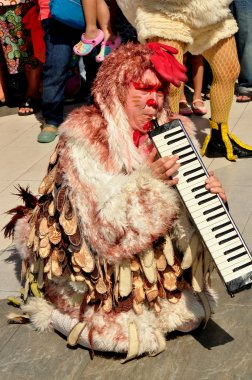 Bangkok, Thailand: A Chicken Musician Entertains Crowds on Children's Day Holiday