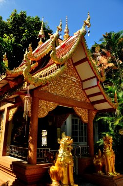 Chiang Mai, Thailand: Temple Pavilion at Wat Fa Han