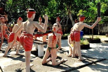 Bang saen, Tayland: günahkarları cehennemin wat saen suk, bahçedeki