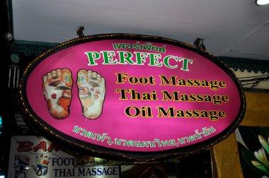 Pattaya, Thailand: Massage Spa Sign