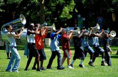 High School Marching Band in Newark, NJ