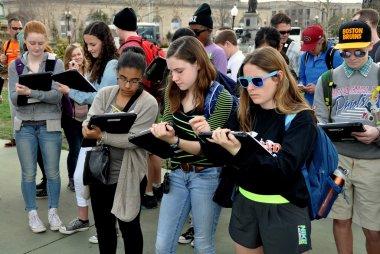 Washington, DC:  Students on School Field Trip