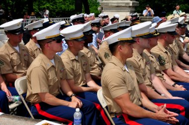 NYC: U.S. Marines at Memorial Day Ceremonies