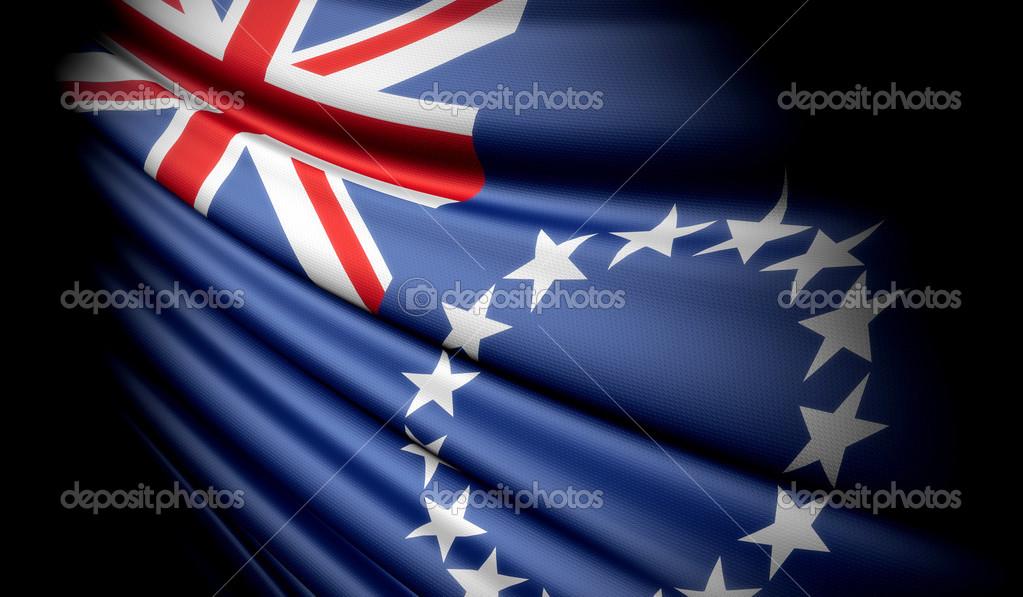 Bandera de islas cook — Fotos de Stock © flogeljiri #43645105
