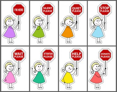Signs and daughter cartoon