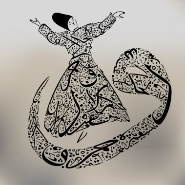 Arabic figure and dervish