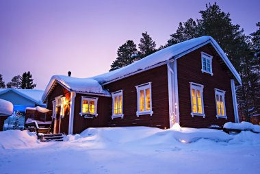 Finnish house in winter