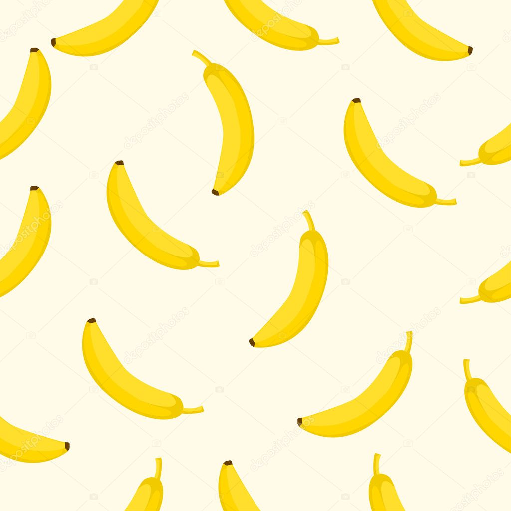Seamless background with yellow bananas Vector illustration