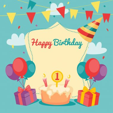 Happy Birthday vector card