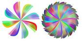 Colored pattern retro background, windmill