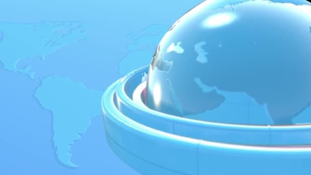 planeta v modré backgrond