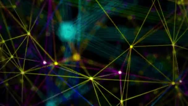 čáry a částic pozadí pohybu