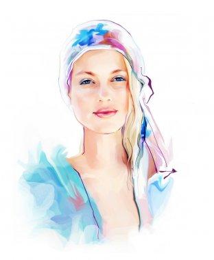 Beautiful elegance woman