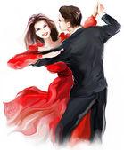 Fiatal pár tánc