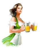 Fényképek Nő a gazdaság sör