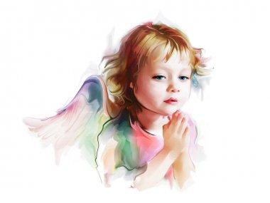 Small angel praying