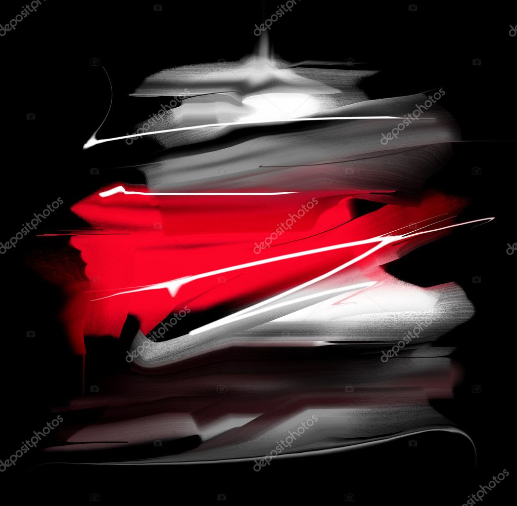 Black and red background.