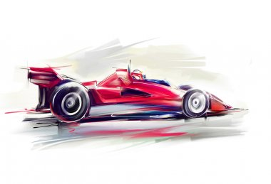 Red Formula One car