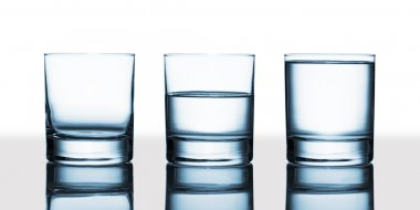Three water glasses