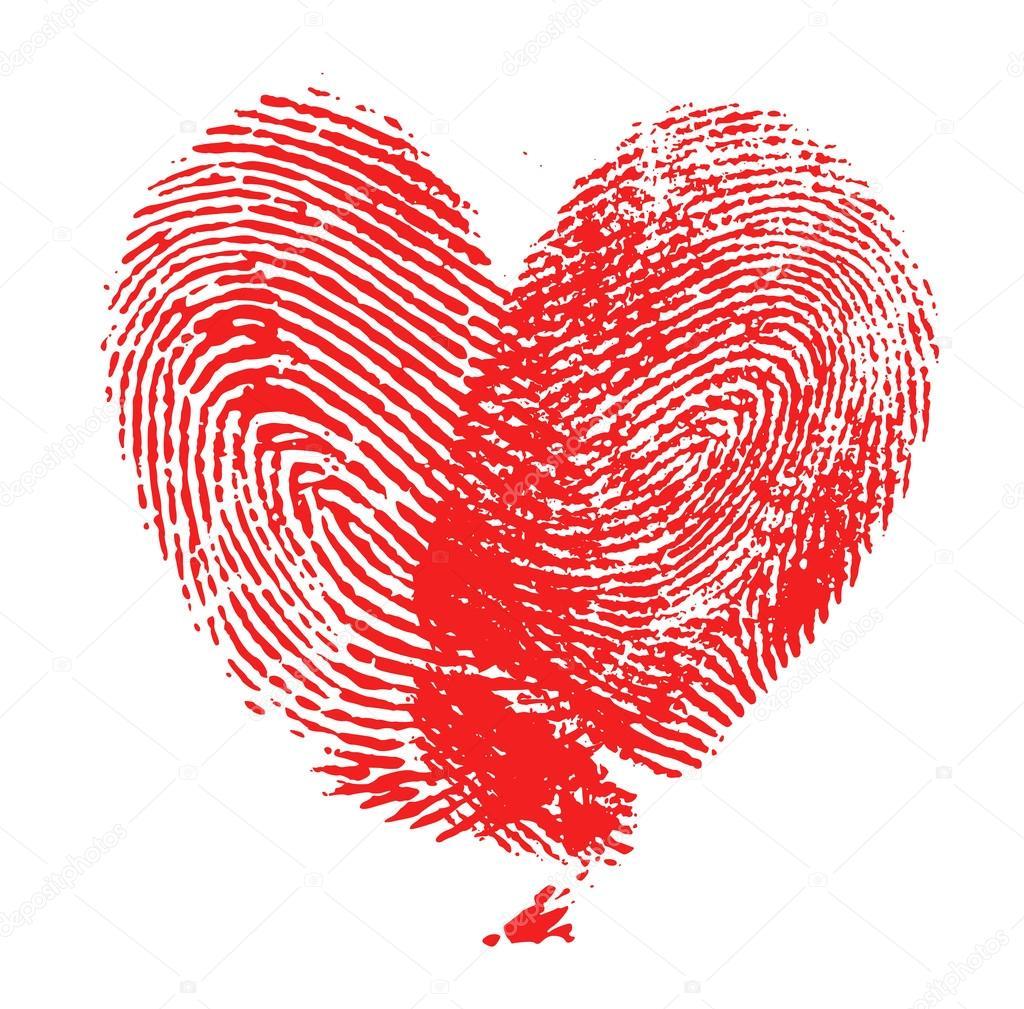 Fingerabdruck Herz Stockfoto C Chones 32398607
