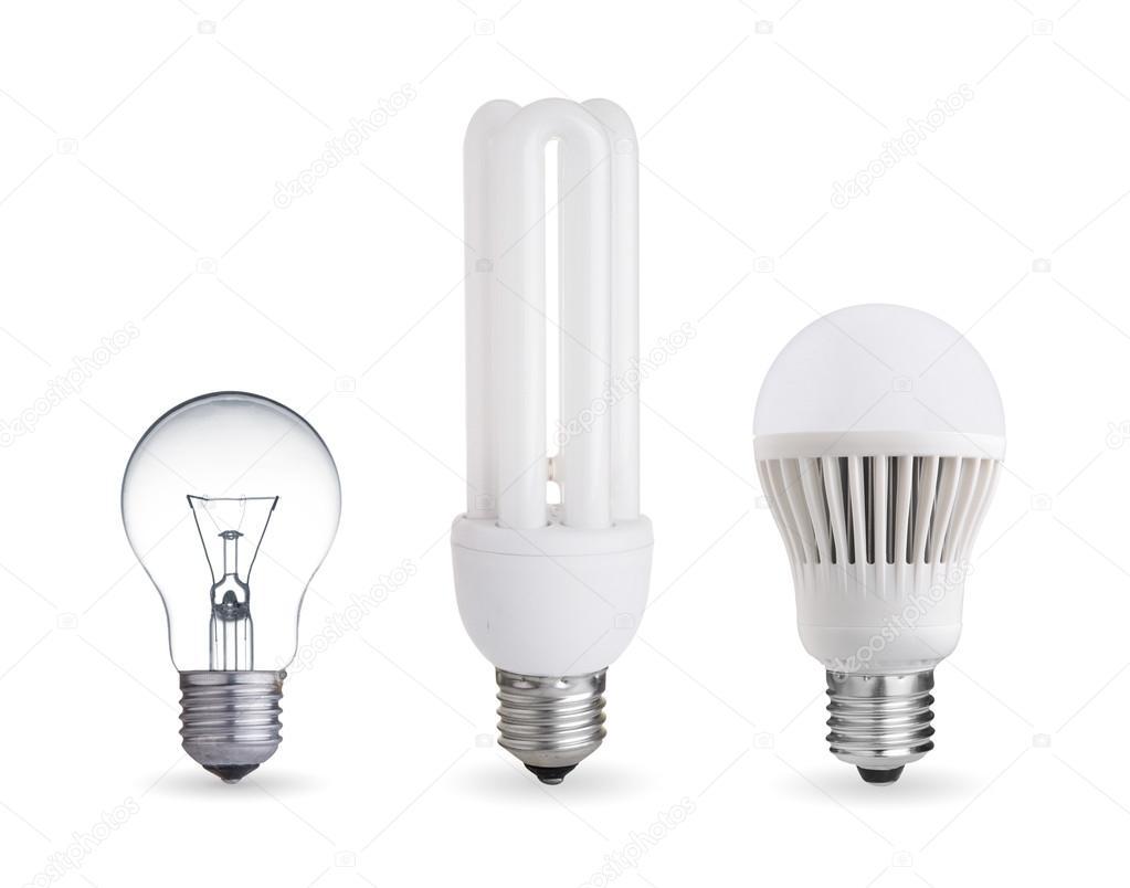 Different Kind Of Light Bulbs U2014 Stock Photo