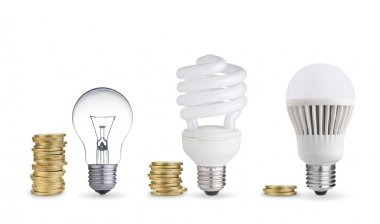 Light bulbs and coins