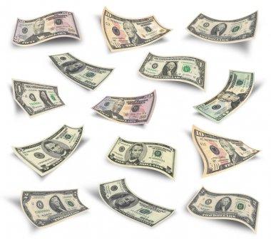 Set of dollar bills