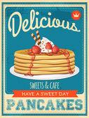 Fotografie Vector vintage styled pancakes poster