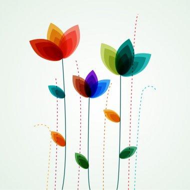 """Картина, постер, плакат, фотообои """"векторные цветы"""", артикул 32978813"""
