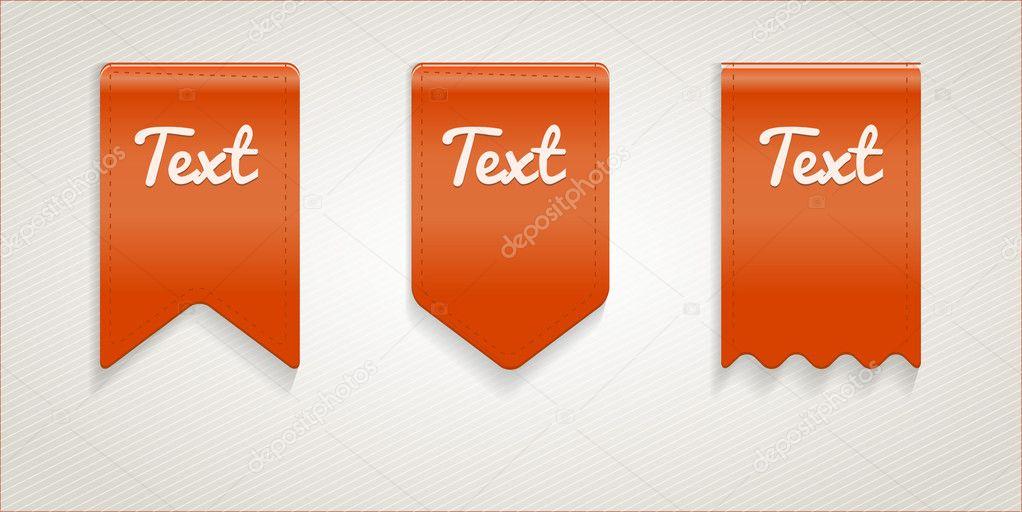 Vector text ribbons