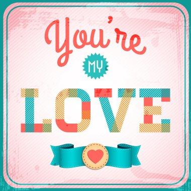 Vector vintage love card