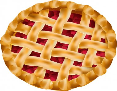 Vector delicious cherry pie