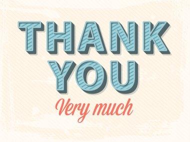 Vector thank you greeting card stock vector