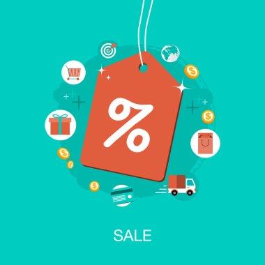 Vector modern sale concept