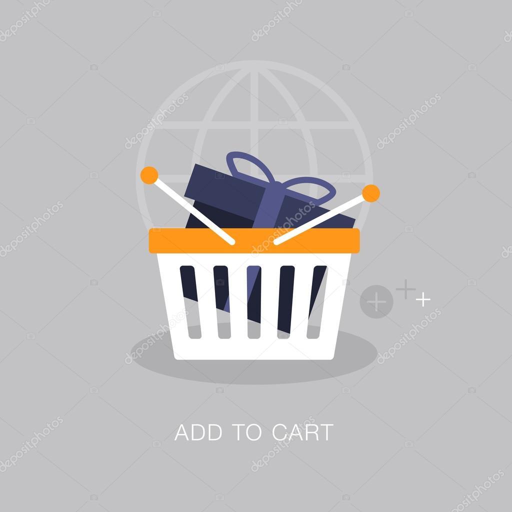 ✓ vector modern add to cart concept illustration premium vector in adobe  illustrator ai ( .ai ) format, encapsulated postscript eps ( .eps ) format  wdrfree