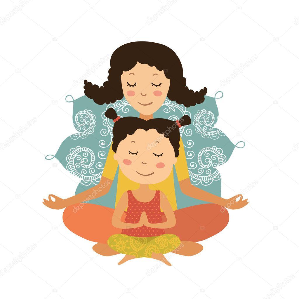 ᐈ Yoga Cartoon Stock Vectors Royalty Free Yoga Cartoon Poses Illustrations Download On Depositphotos